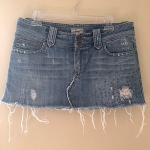 Abercrombie & Fitch Ripped Jean Skirt